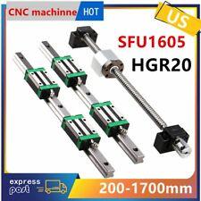 Hgr20 Linear Guide Rail Sfu1605 Ballscrew Set Rm1605 Bf12bk12 Cnc 200 1700mm