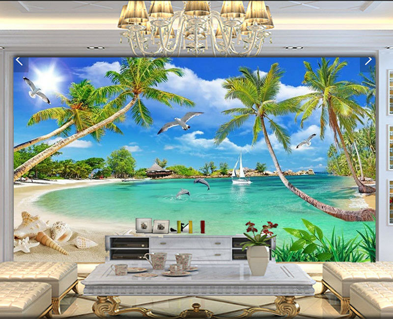 Sweet Plausible Sea 3D Full Wall Mural Photo Wallpaper Printing Home Kids Decor