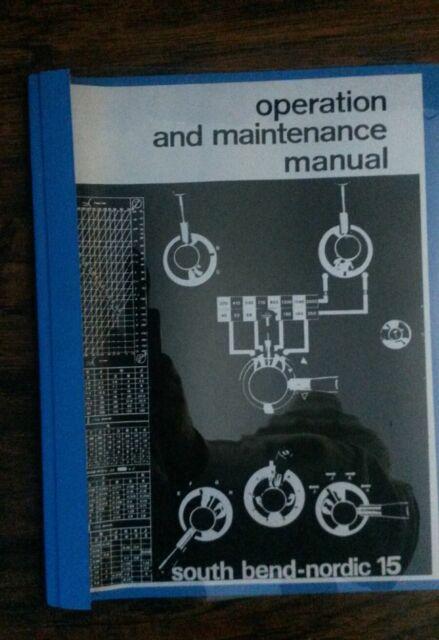 "/& Parts List Manual *918 Maintenance South Bend Lathe 17/"" Turn-nado Operation"