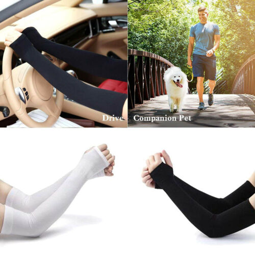 UPF 50 Sun Sleeves with Hand Cover for Men /& Women Cooling Arm Sleeves NEW!