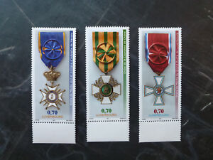 2017-LUXEMBOURG-NATIONAL-ORDERS-OF-MERIT-SET-OF-3-MINT-STAMPS-MNH