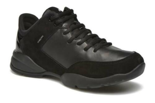120 Women's Geox D SFINGE A D642NA Laceup Trainers in Black size UK 7.5
