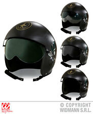 Fighter Jet Pilot Helmet Hat for War Hot Shot Top Gun Fancy Dress Accessory