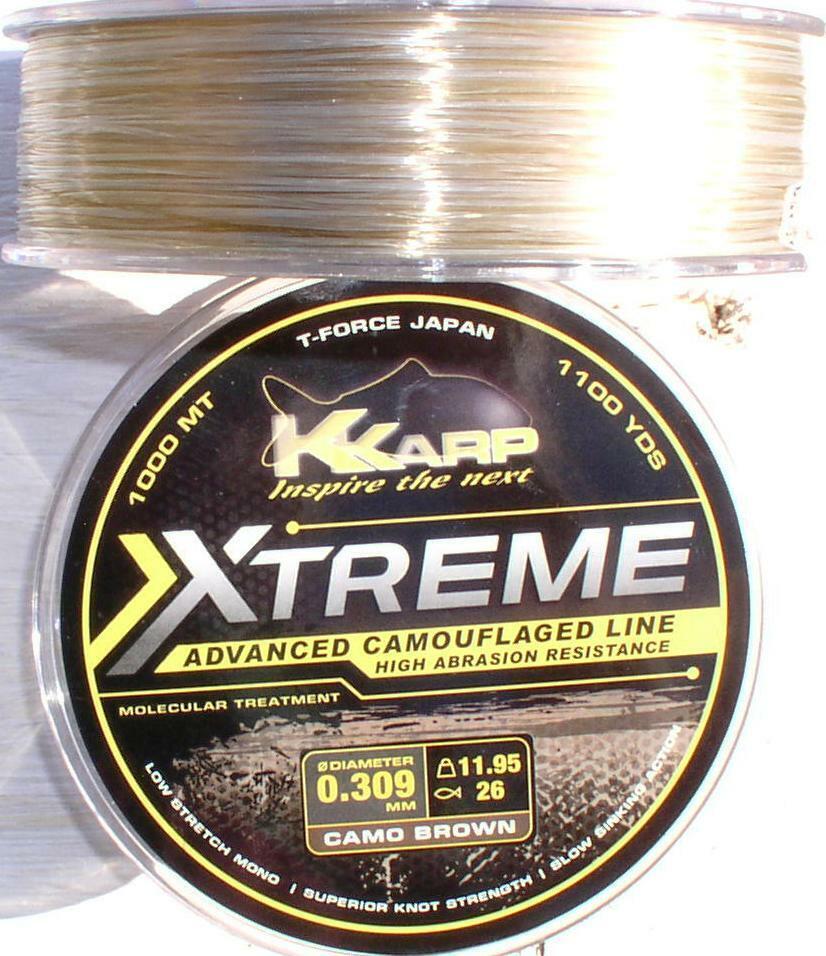 XTREME Camouflage Schnur für Carphunter 1000 Meter,  0,31 + 0,35 + 0,40 mm  save up to 30-50% off