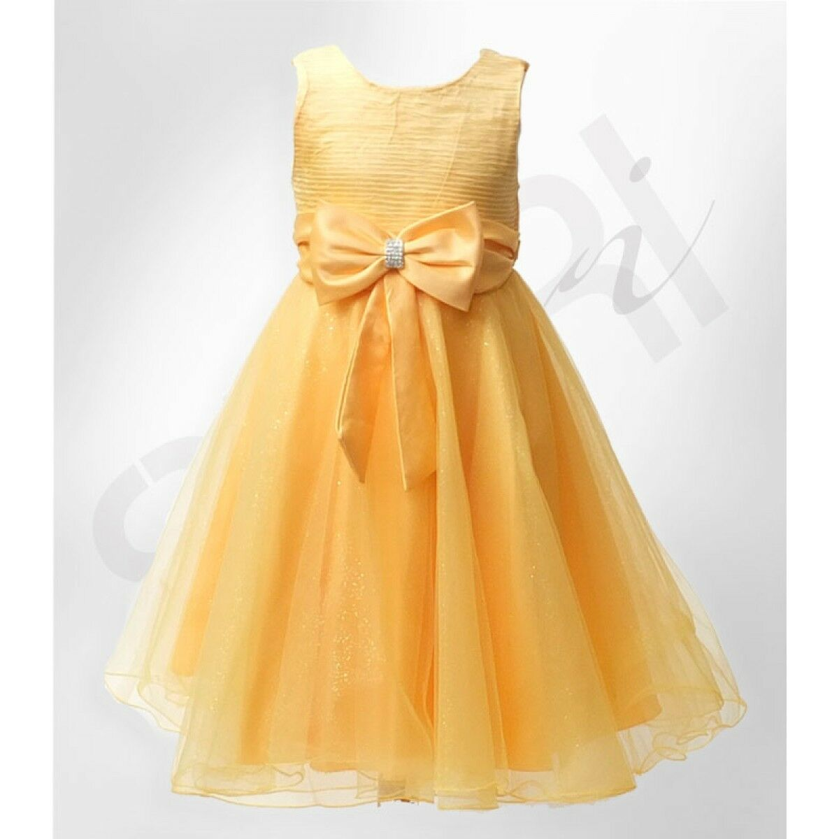 Big bow formal flower girls dresses bridesmaid party girls for Big girl wedding dresses