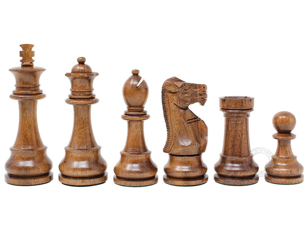 Tournament Chess Set Pieces Unique Staunton King Size 3.75  Acacia Wood Boxwood