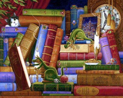 I draghi e libri a lume di candela B//N cross stitch chart Buy 1 GET 1 META /'PREZZO