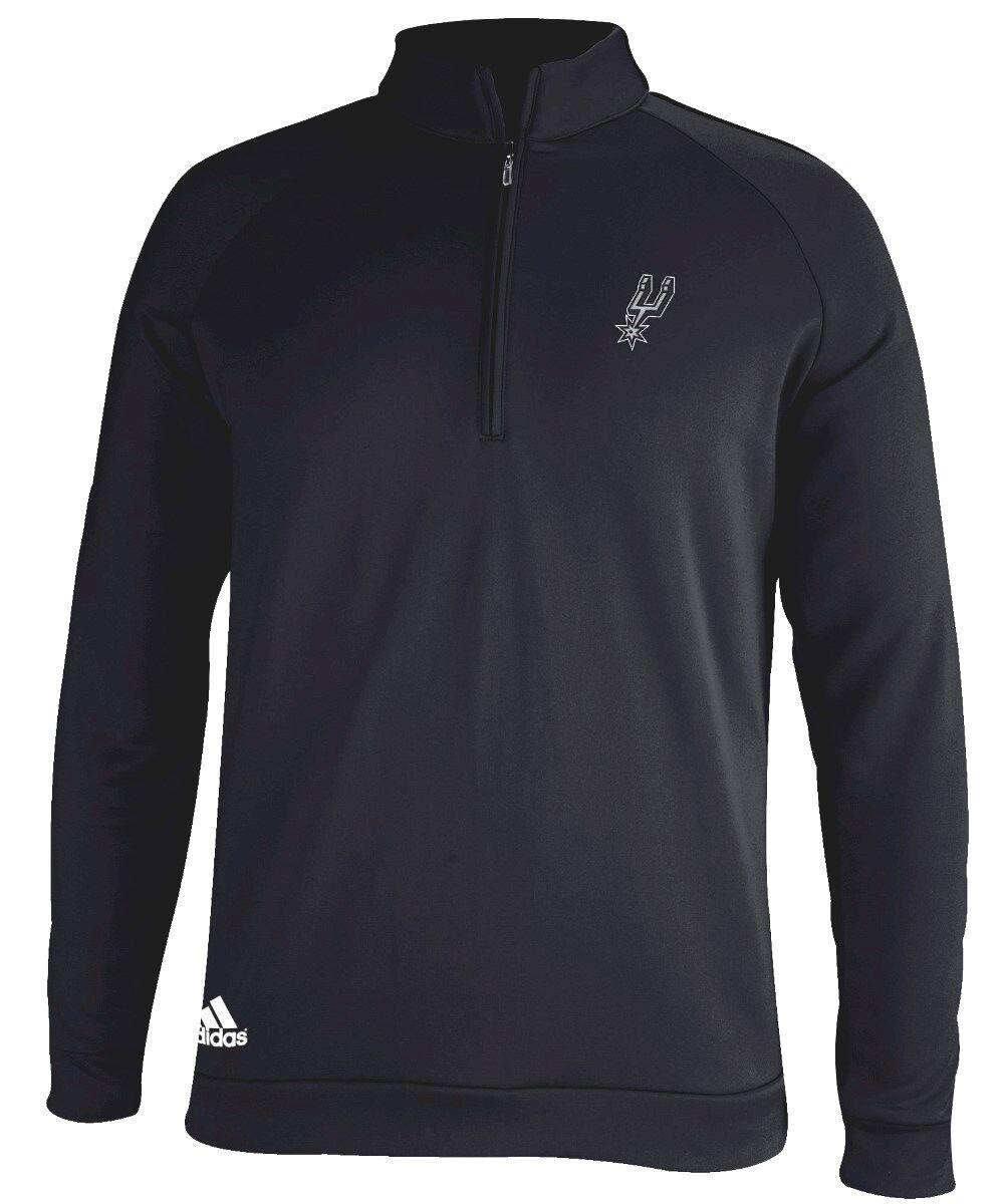 Sudadera con capucha Climalite 1/4 Climalite 1/4 para hombre Adidas NBA de San Antonio Spurs