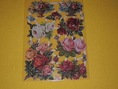 Sinnvoll 1x Poesiebilder Oblaten 182 Rosen Körbe Blumen Rosarot Gelblich Weiß Glanzbilder Sammeln & Seltenes Ab 1960