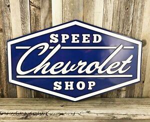 "Chevrolet Chevy Garage 30/"" Large Embossed Metal Tin Sign Garage Vintage New"