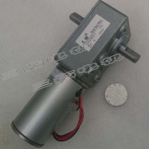 1Pcs DC12V//24V GW38ZY Brush Worm Gear Box Motor Reducer Motor For Tank//Robot DIY