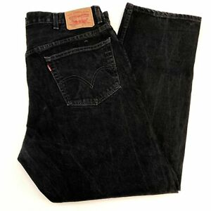 Levi-039-s-505-Denim-Jeans-Mens-42X30-Regular-Fit-Straight-Leg-Cotton-Dark-Washed