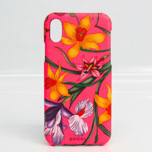 Gucci PVC Phone Bumper For IPhone X Multi-color,Pink Flower pattern 550 BF529848