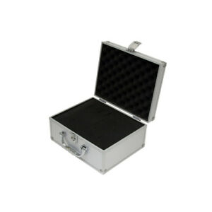 SMALL-ALUMINIUM-FLIGHT-CASE-BOX-SILVER-CAMERA-FOAM-TOOL-TRAVEL-CARRY-STORAGE