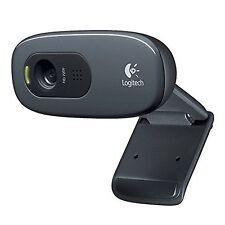 Logitech C270 960-001063 HD Webcam Black Laptop Computer Camera New