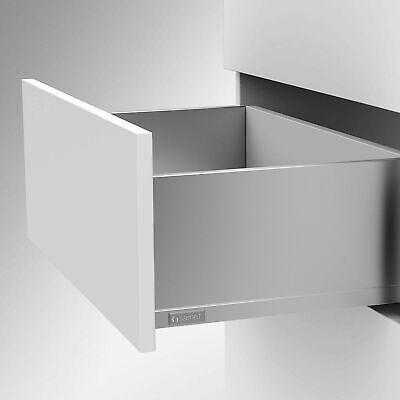 Schubladensystem SMARTFLOW Soft-Close Zargenh/öhe 144 mm Nennl/änge 270 mm Tragkraft 40 kg anthrazit Schublade Vollauszug Schubkasten von SO-TECH/® lichte Korpush/öhe 197 mm