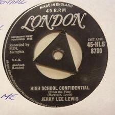 "Jerry Lee Lewis(7"" Vinyl 1st Issue)High School Confidental / Fools Like Me-Ex/VG"
