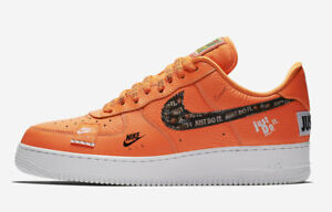 6d6caa88ef16 Nike Air Force 1 AF1 Low JUST DO IT ORANGE JDI PACK WHITE MAX AR7719 ...