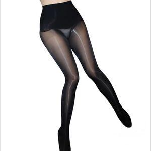 f00b35d4d Sexy Women 360° Seamless Super Shiny High Glossy Pantyhose Sheer ...