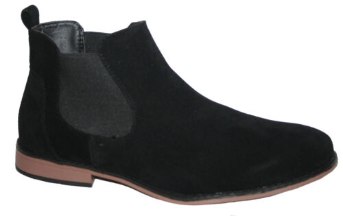 MENS FAUX SUEDE WITH GUSSETS PULL ON CHELSEA BOOT IN SIZES 7-12