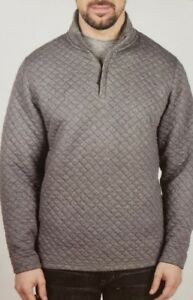 NEW-Island-Sands-Men-039-s-1-4-Zip-Long-Sleeve-Quilted-Pullover-VARIETY
