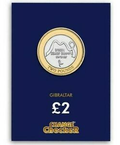 2019 Breast Cancer Awareness £ 2 due Pound Coin Gibilterra LIMITED EDITION