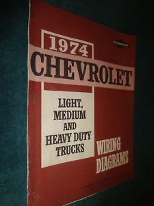1974 CHEVY TRUCK SHOP MANUAL WIRING DIAGRAM / ORIGINAL G.M. BOOK! PICKUP  BLAZER+   eBayeBay