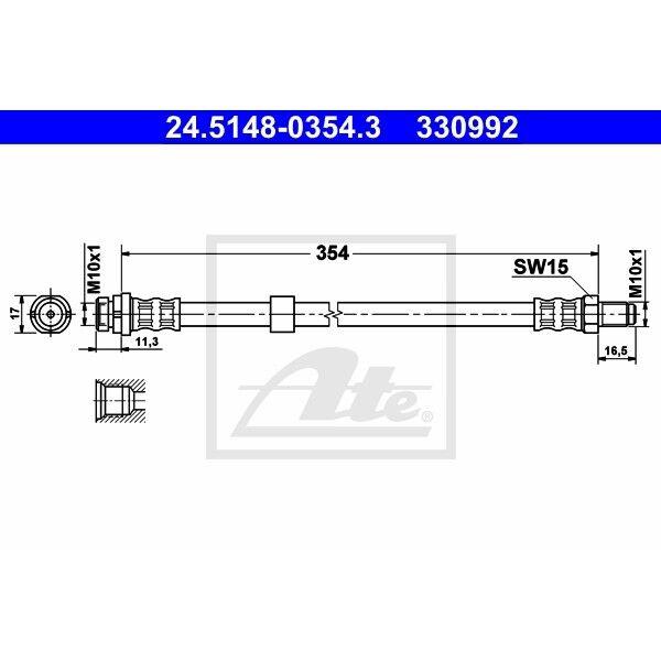 ORIGINAL ATE Bremsschlauch Ford Transit ua. Bj.03-