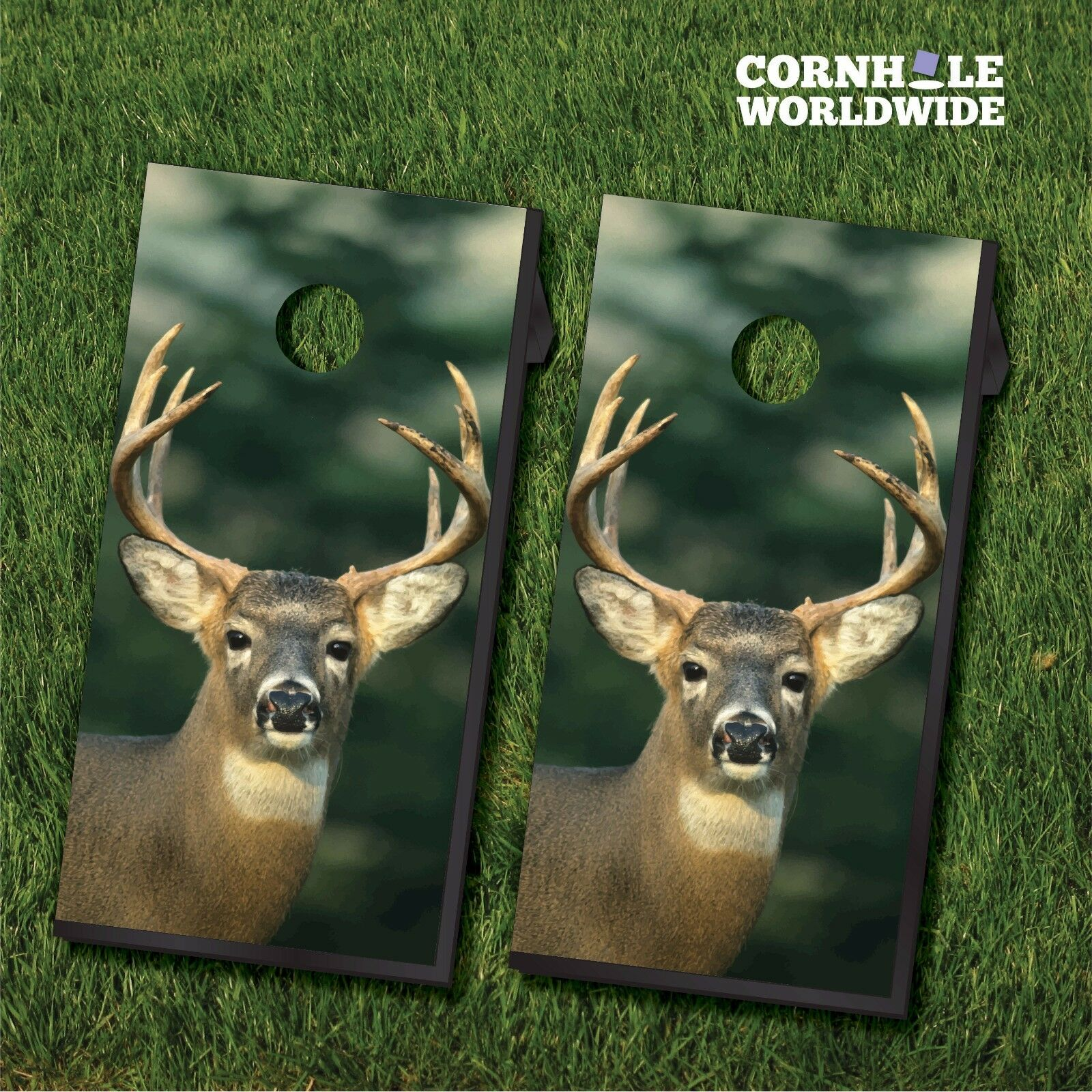 Deer Hunting Cornhole set w 8 bags