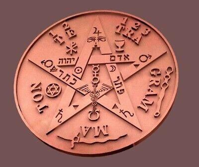 3d model STL File Tetragramaton esoteric amulet ring and Saint Benedict ring