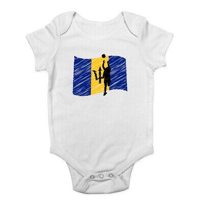 Fiji Netball Boys Girls Baby Grow Vest Bodysuit