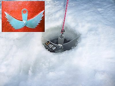 Tie down /& hold your portable in place Ice fishing shanty anchor Ice Angel