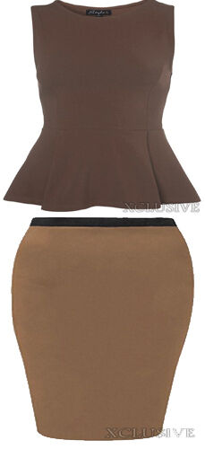 New Womens Plus Size Skater Top Midi Pencil Skirt Mix /& Match Special Offer16-26