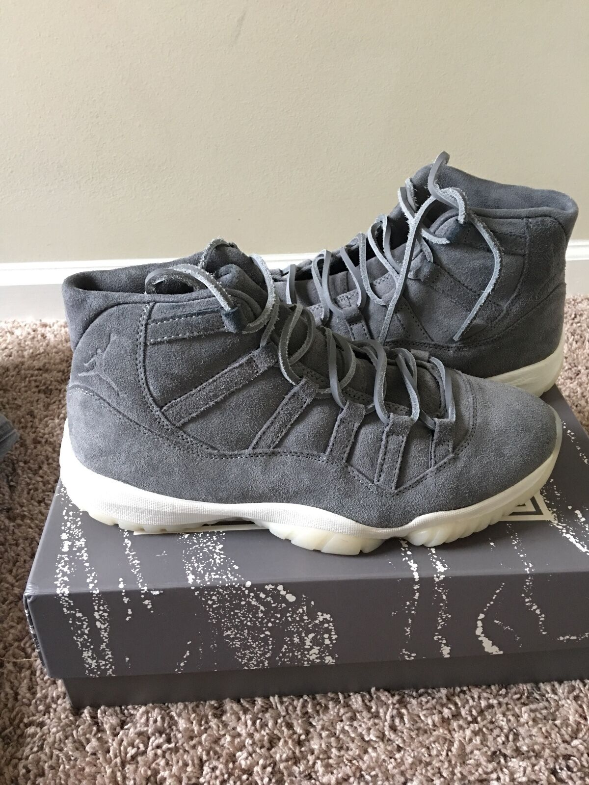 Jordan 11 suade. Size 10.5 it was only worn once.came with two pair of shoe lace
