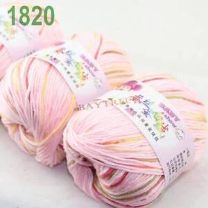 SALE-3-balls-x50gr-Cashmere-Silk-velvet-Hand-Knitting-baby-Yarn-pink-Red-1820