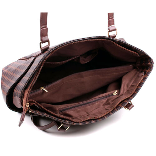 Women/'s Large Checked Designer Tote Bag Leather Style Quality Shoulder Handbag