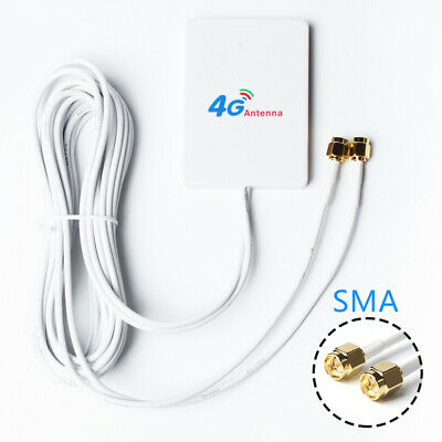 4G LTE Double Antenna Booster 28dBi TS9 Connector 3M For 3G 4G LTE Modem Router