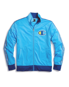 Champion Active Blue Surf The Web Chain Stitch Big C Logo Track