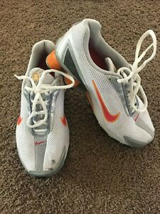 low priced ba83d 27fc4 Image is loading Nike-Shox-Orange-White-Mens-Size-6-36-