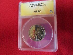 2005-Spain-2-Euro-Coin-034-Don-Quixote-400-Years-034-ANACS-MS-65
