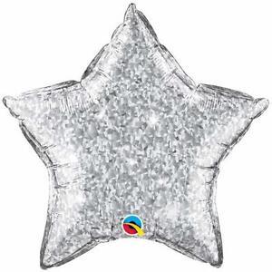 SILVER-STAR-BALLOON-20-034-STAR-CRYSTALGRAPHIC-SILVER-XMAS-PARTY-SUPPLIES-BALLOON