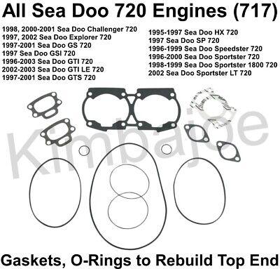 Sea-Doo Top-End Gasket Kit 717 HX XP GTI GSI GTS 1995 1996 1997 1998 1999-2001