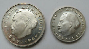 Bulgarien-Bulgaria-5-und-2-Leva-1964-Georgi-Dimitrov-Silber-PP