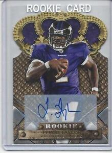 TYROD-TAYLOR-2011-CROWN-ROYALE-GOLD-DIE-CUT-ROOKIE-AUTO-RC-D-499