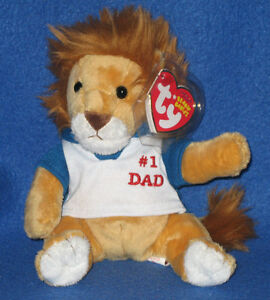 TY MY DAD the FATHER'S DAY LION BEANIE BABY - MINT with MINT TAG