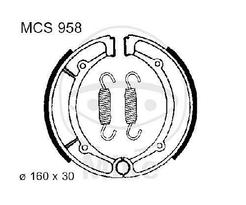 TRW Bremsbacken Bremsbelag mit Feder MCS958 Backen Trommelbremse