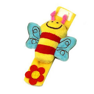 Attractive Lovely Soft Baby Wrist Rattle Toy Hands Finder Bee /& Sheep new.