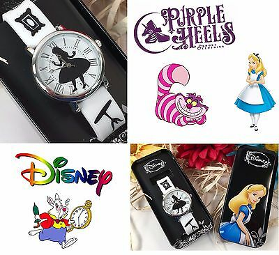 Disney Alice in Wonderland Silhouette Alice Silver White Accutime Womens Watch