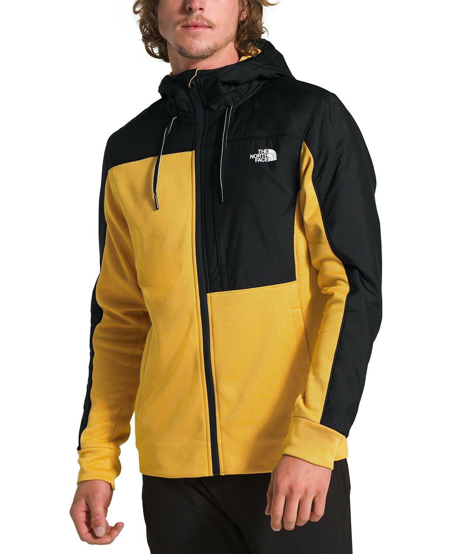 The North Face Men's Essential Full Zip Fleece Hoodie YellowBlack MLXL