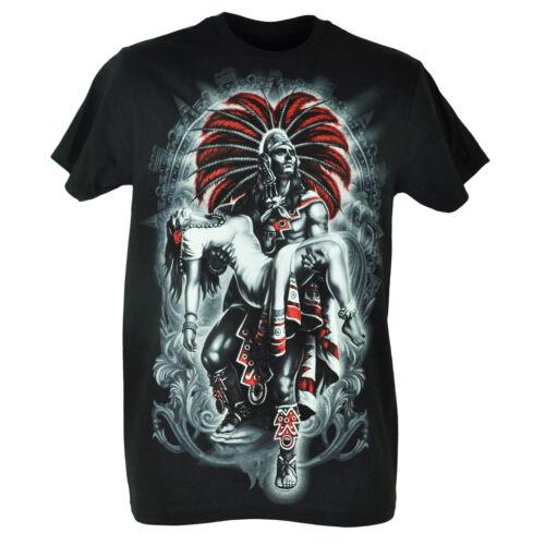 Fifth Sun Dia De Los Muertos Girl Indian Mexico Graphic Black Tshirt Tee